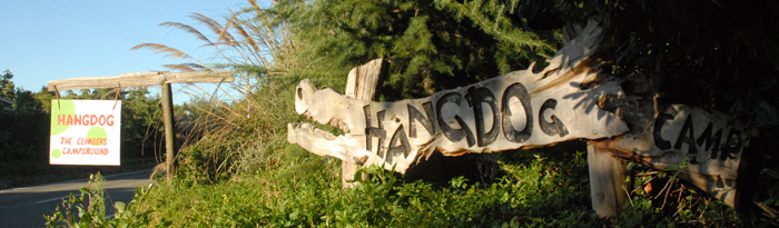 Hangdog Camp Sign